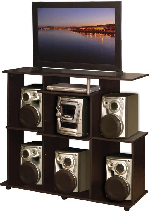 Centro de audio moduart l nea squadra 19013 wengue ktronix - Muebles para equipo de sonido ...