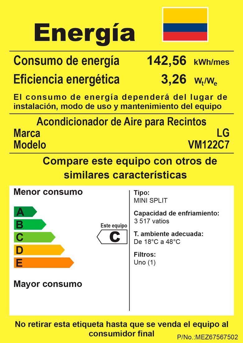 Vm122c7 Aire Acondicionado Dual Cool Lg Colombia Uso