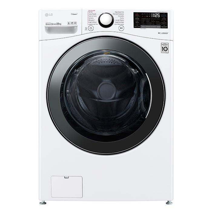 Lavadora LG Carga Frontal 22 Kilogramos WM22WV2S6B Blanco