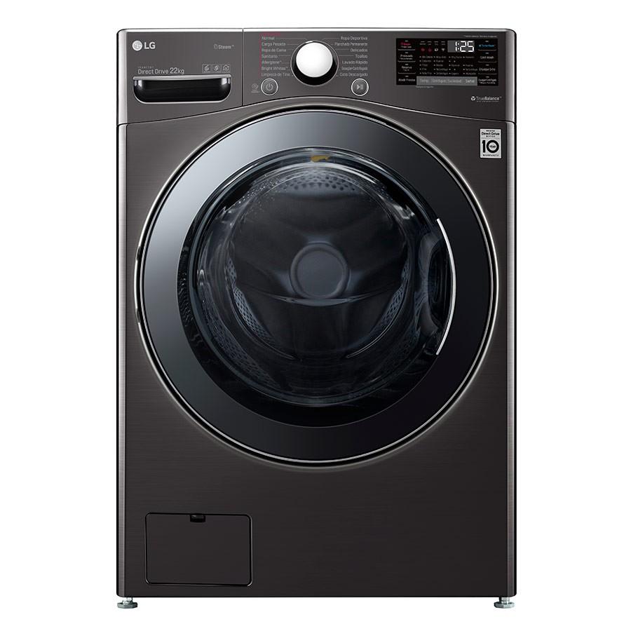 Lavadora LG Carga Frontal 22 Kilogramos WM22BV2S6B Negro