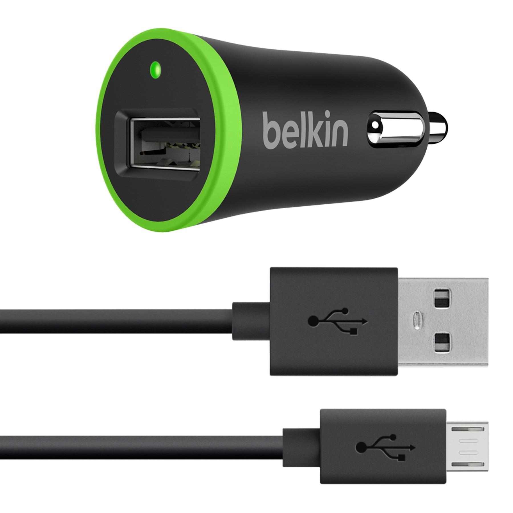 94ce8c524dd Cargador BELKIN, carro Negro Micro USB 2.1 Ktronix Tienda Online