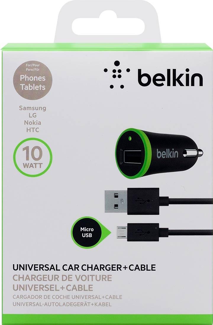 f7e835b4623 Cargador BELKIN, carro Negro Micro USB 2.1 Ktronix Tienda Online