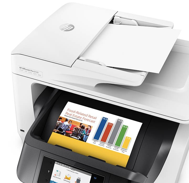 Impresora Multifuncional Hp Officejet Pro 8720 Blanco