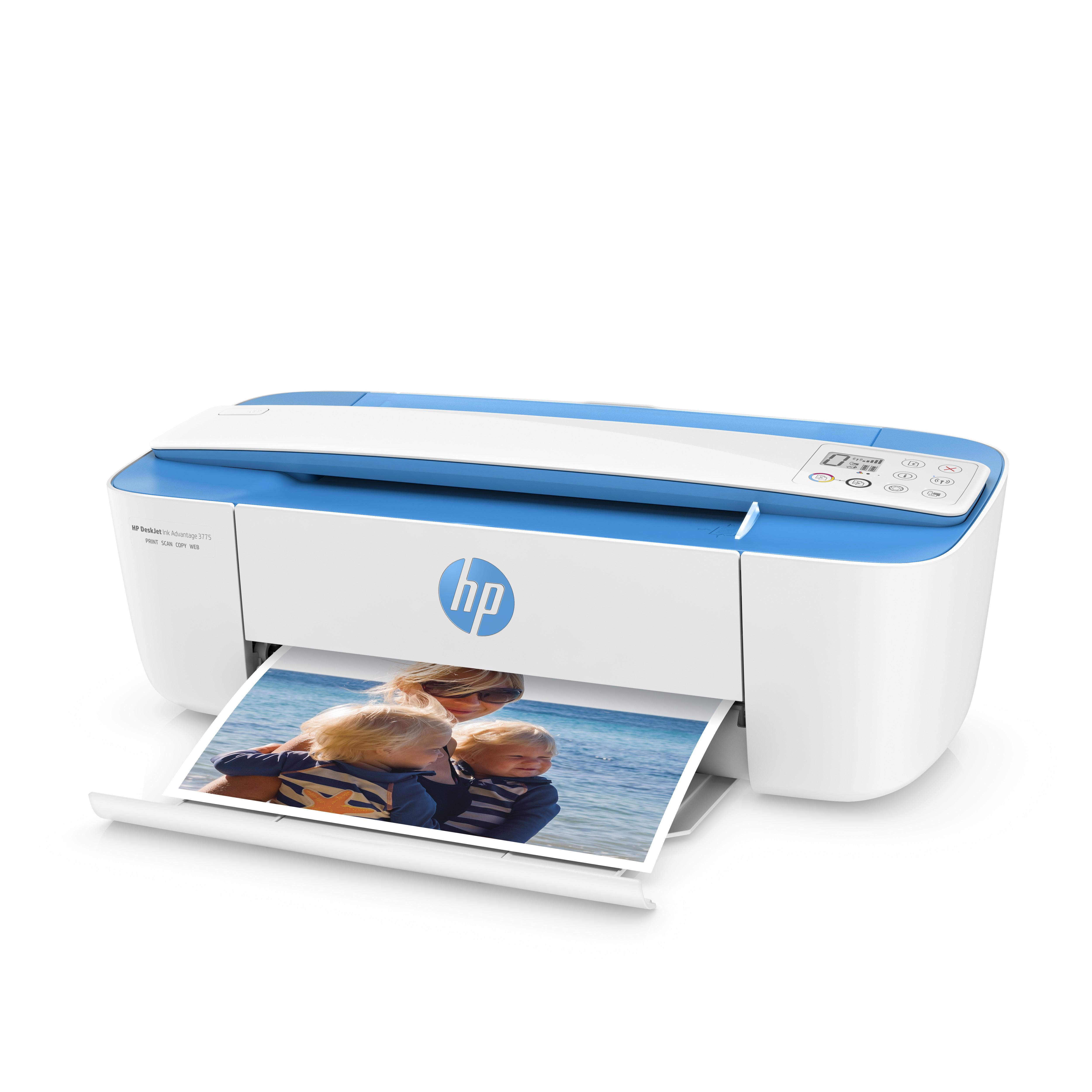 Impresora Multifuncional Hp Deskjet Ink 3775 Azul Ktronix