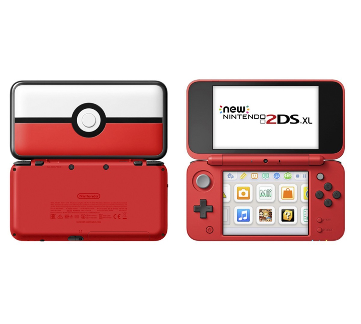 Consola nintendo new 2ds xl pokeball edition ktronix for Housse new 2ds xl