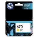 Cartucho de tinta HP 670 Amarillo Original CZ116AL