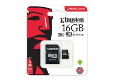 Memoria MicroSD KINGSTON Canvas Select 16GB + Adaptable Clase 10