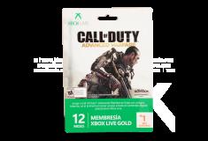 Tarjeta XBOX 360 Live 12 Meses + 1 Mes gratis edicion Call Of Duty Advanced Warfare
