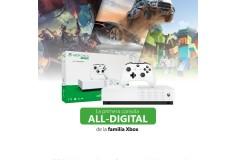 Consola Xbox One S  All Digital 1TB + 3 Juegos Digitales  + 1 Control