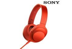 Audífonos SONY de diadema MDR-100AAP Rojos con audio de alta resolución