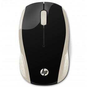 Mouse HP Inalambrico Optico 200 Negro / Dorado