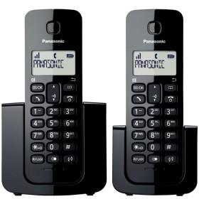 Teléfono Inalámbrico Dect PANASONIC ID TGB112 2x1 Negro