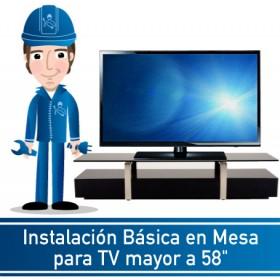 """Instalación Básica en Mesa para TV mayor a 58"""""""
