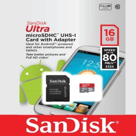 Memoria MicrSD SanD 16GB+Adaptable Cl10