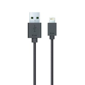 Cable ILUV USB/Lightning 1.2Mt Negro