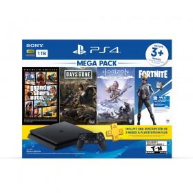 Consola PS4 1TB + 1 Control + 3 Juegos