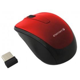 Mouse ESENSES Inalámbrico Óptico Rojo
