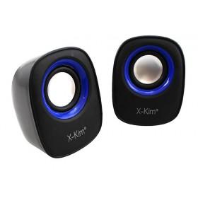 Parlante X-KIM USB/3.5 3W Negro/Azul