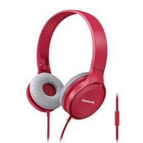 Audífonos PANASONIC Alámbricos On Ear HF100 Rojo