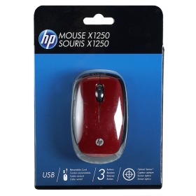 Mouse HP Optico USB Rojo