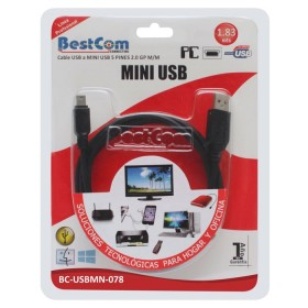 USB A a USB B 5 BESTCOM pin MINI Cable 1.83 mts