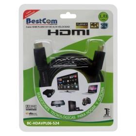 Cable Plano HDMI  BESTCOM de Alta Definición y Alta Velocidad/1080, 1.83 mts.