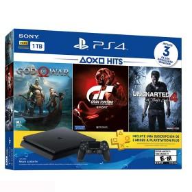 Consola PS4 Hits V3 Slim 1 Tera + 1 Control + 3 juegos + Plus 3 meses