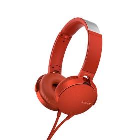Audífonos SONY Alambrico OnEar ML XB550 Rojo