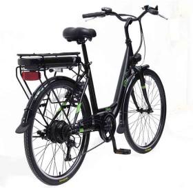 Bicicleta E-city Urbana 250W Negra-e