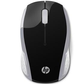 Mouse HP Inalambrico Optico 200 Negro / Plata