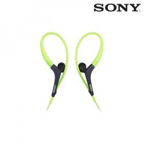 Audífonos SONY internos  MDR-AS400EX verdes resistentes a salpicaduras.