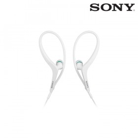 Audífonos SONY internos MDR-AS400EX blancos resistentes a salpicaduras.