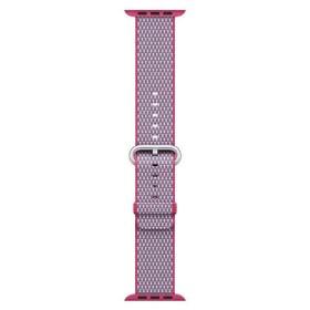 Banda de nailon trenzado en color baya de cuadros 38mm – Tallas S/M y M/L (Berry Check)