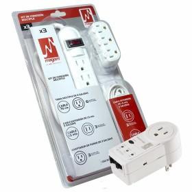 Kit de Conexión Multiple por 3 + Protector Voltaje