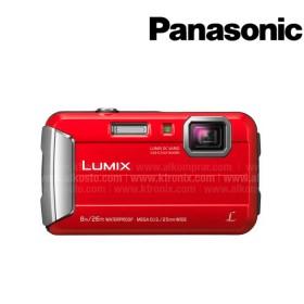 Camara Sumergible PANASONIC Lumix DMC - TS30 Roja + Estuche
