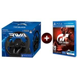 Bundle PS4 Timón Hori Apex Wheel + Videojuego Gran Tursimo Sport