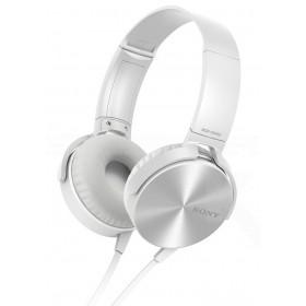 Audífonos SONY de diadema Extra Bass MDR-XB450 blancos con manos libres
