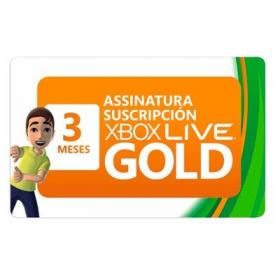 Tarjeta xbox Live 3 Meses Gold
