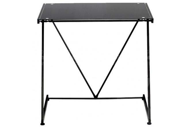 Mesa de escritorio en vidrio negra for Escritorio de vidrio