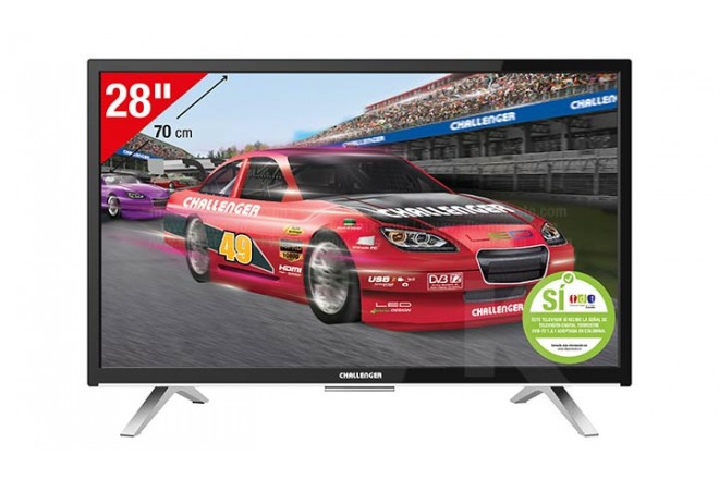 "TV 28"" 70 cm LED CHALLENGER 28D27HD T2"