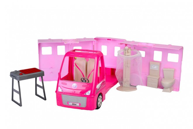 Carro de muñecas camper Goldlok Leisure Day Rosado