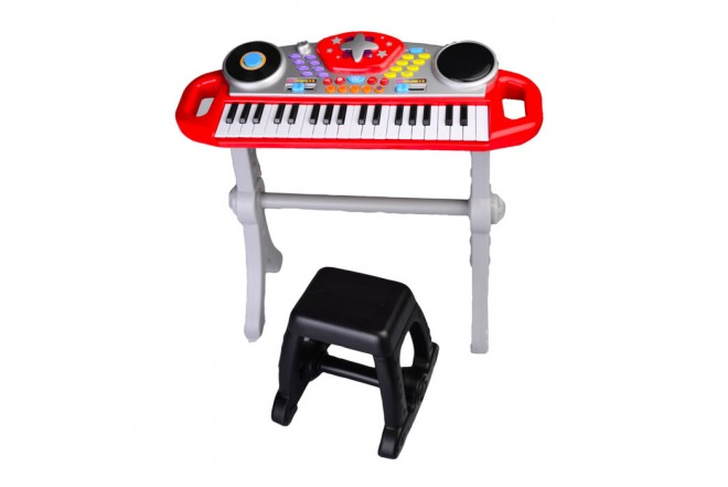 Piano micrófono Win Fun Beat Bop rojo