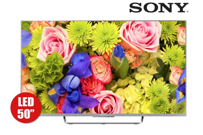 "TV 50"" 126 cm LED SONY 50W807C Full HD 3D Internet"