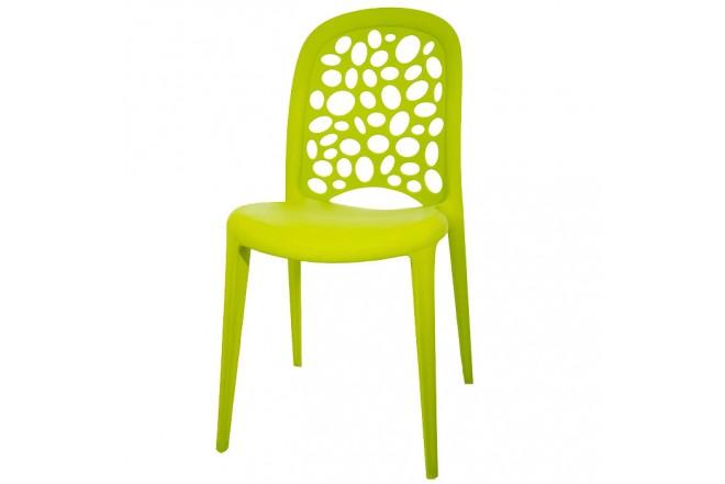 Silla Plástica Verde Elegante HLP-5059