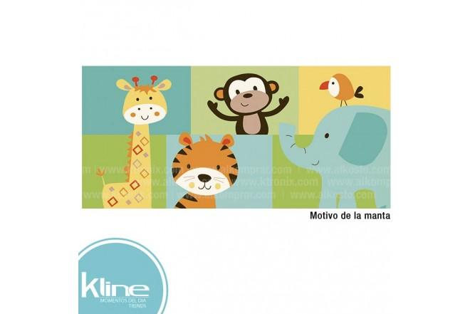 Manta infantil K-LINE Flannel Niño 75x112 cms 330 grms