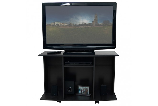 "Mesa TV 42"" MADERKIT con Rodachinas Wengue"