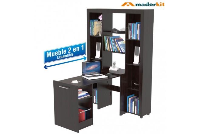 Biblioteca MADERKIT 2 en 1 Wengue 00748