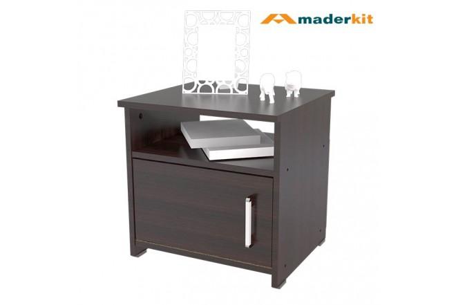 Kombo MADERKIT MATRIX: Cama Doble 00818-CA-N-R + 2 Mesas de Noche 31701-N-R