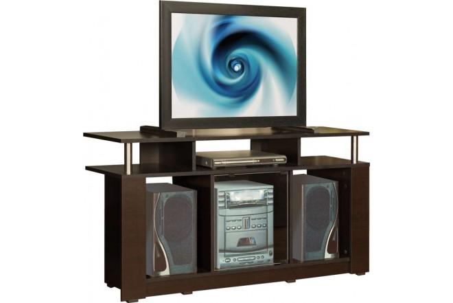 Centro de Audio MODUART Línea Squadra 62,2x120x36,5 Wengue