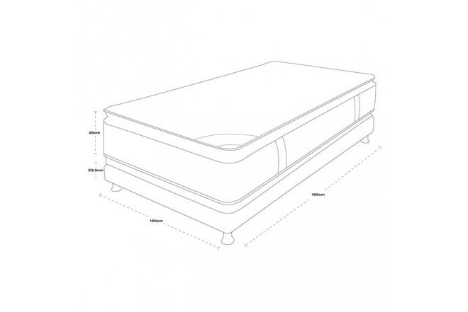 KOMBO SPRING: Colchón 120 x 190 Life New C5 + Base cama Salim Semidoble